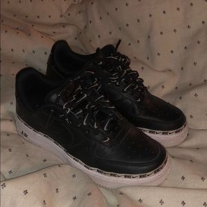 black platform air forces